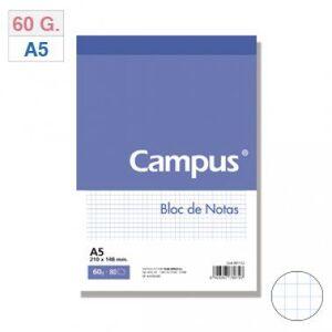 BLOC NOTAS MICROPERFORADO CUADRICULADO 4MM A5 80 HJ 60 GR