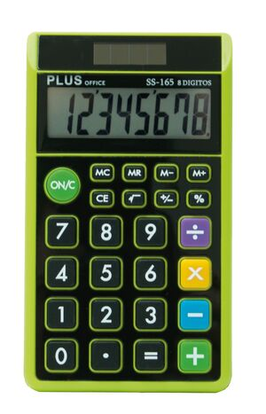 CALCULADORA PLUS OFFICE SS-165 VERDE