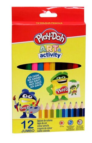 LAPICES JUMBO PLAY DOH CAJA 12 COLORES SURTIDOS