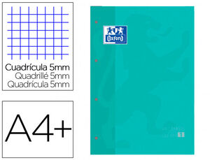 RECAMBIO COLOR OXFORD ICE MINT 5X5 MM A4 80 HJ 90 GR
