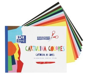 BLOC MANUALIDADES OXFORD 10 CARTULINAS A4 170 GR COLORES SURTIDOS