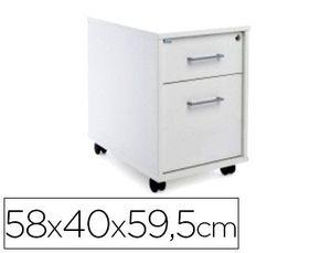 CAJONERA ROCADA CON DOS CAJONES SERIE STORE 58X40X59,5 CM ACABADO AW04 BLANCO/BLANCO