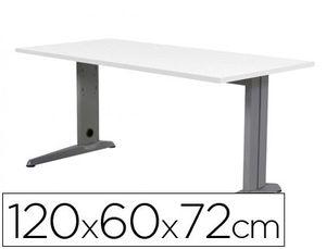 MESA DE OFICINA ROCADA METAL 2000AC04 ALUMINIO /BLANCO 120X60 CM