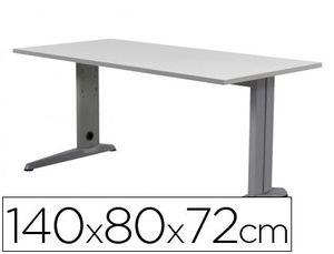 MESA DE OFICINA ROCADA METAL 2001AC02 ALUMINIO /GRIS 140X80 CM