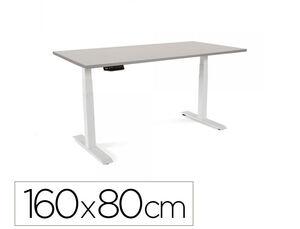 MESA OFICINA ROCADA SERIE WORK 160X80 CM ACABADO AB02 ALUMINIO/GRIS