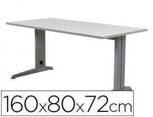 MESA DE OFICINA ROCADA METAL 2002AC02 ALUMINIO /GRIS 160X80 CM