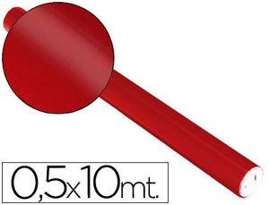 ROLLO PAPEL METALIZADO ROJO 0,50 X 10 M