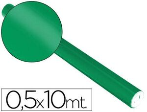 PAPEL METALIZADO VERDE ROLLO CONTINUO 0,5 X 10 M