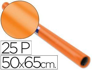 PAPEL CHAROL NARANJA 50X65 CM 25 UD
