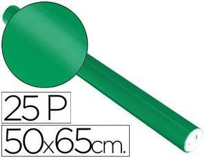 PAPEL METALIZADO VERDE 50X65 CM ROLLO 25 HJ
