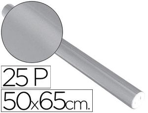 PAPEL METALIZADO PLATA ROLLO 25 HJ 50X65 CM