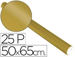PAPEL METALIZADO ORO ROLLO 25 HJ 50X65 CM