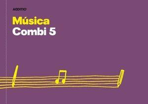 CUADERNO 4º MUSICA COMBI 5 PENTAGRAMAS + ANOTACIONES 24 HOJAS