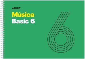 CUADERNO ESPIRAL MUSICA BASIC 6 PENTAGRAMAS