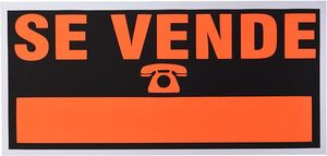 CARTEL SE VENDE 500 X 320 MM