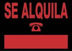 CARTEL SE ALQUILA 70X50 CM 6161 NE
