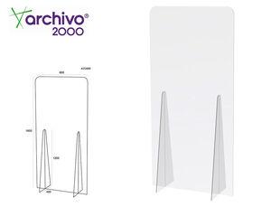 PANTALLA DE PROTECCION ARCHIVO 2000 DE PIE METACRILATO TRANSPARENTE 900X1850 MM