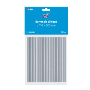 PACK 12 BARRAS SILICONA 7,4X100 MM TRANSPARENTE