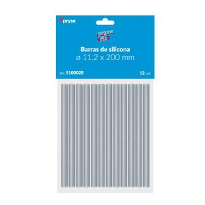 PACK 12 BARRAS SILICONA 11,2X200 MM TRANSPARENTES