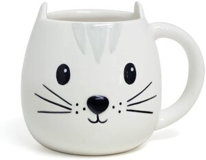 TAZA CERAMICA CON ASA 400 ML BALVI KITTY BLANCA