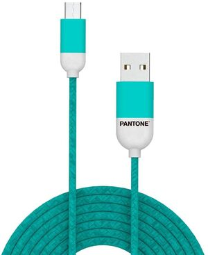 CABLE MICRO USB 1M TURQUESA APPLE MFI