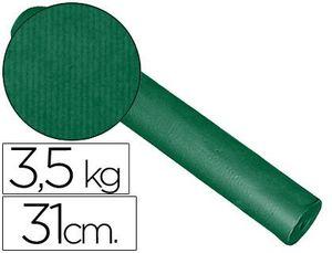 PAPEL FANTASIA KRAFT LISO KFC -BOBINA 31 CM -3,5 KG -COLOR VERDE