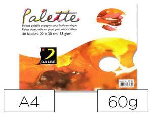 PALETA PAPEL DALBE DESECHABLE DIN A4 40 HOJAS 60 GR