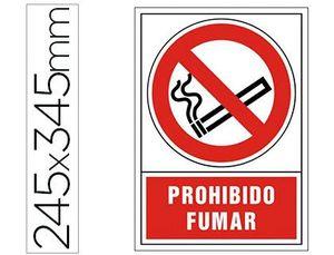 PICTOGRAMA SYSSA SEÑAL DE PROHIBICION PROHIBIDO FUMAR EN PVC 245X345 MM