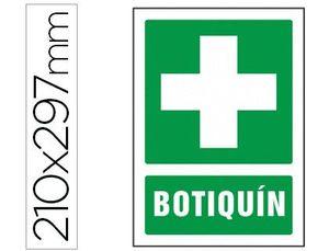 PICTOGRAMA SYSSA SEÑAL DE BOTIQUIN EN PVC 210X297 MM