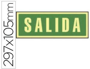PICTOGRAMA SYSSA SEÑAL SALIDA PVC FOTOLUMINISCENTE 297X105 MM