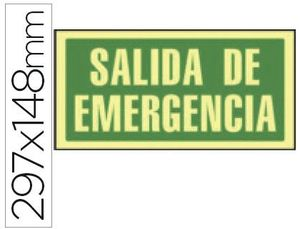 PICTOGRAMA SYSSA SALIDA EMERGENCIA PVC FOTOLUMINISCENTE 297X148 MM