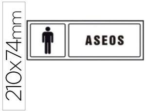 PICTOGRAMA SYSSA SEÑAL DE ASEOS CABALLEROS EN PVC 210X74 MM