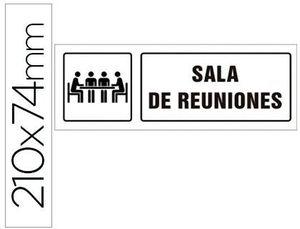 PICTOGRAMA SYSSA SEÑAL DE SALA DE REUNIONES EN PVC 210X74 MM