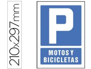PICTOGRAMA SYSSA SEÑAL DE PARKING MOTOS Y BICICLETAS EN PVC 210X297 MM