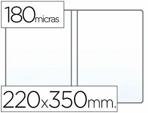 FUNDA PORTADOCUMENTO 4º DOBLE 180 MICRAS PVC TRANSPARENTE 220X350MM