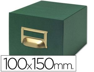 FICHERO 500 FICHAS TELA VERDE Nº 3 100X150 MM