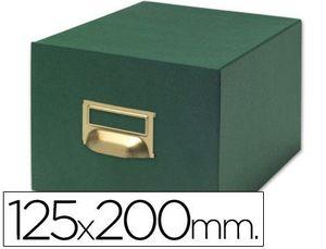 FICHERO 500 FICHAS TELA VERDE Nº 4 125X200 MM