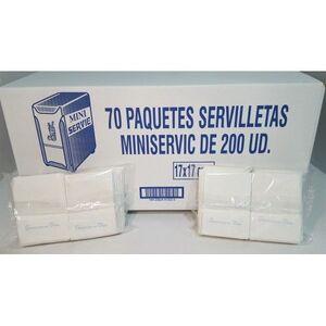 SERVILLETAS MINI SERVIC PAQ. 200 UDS.