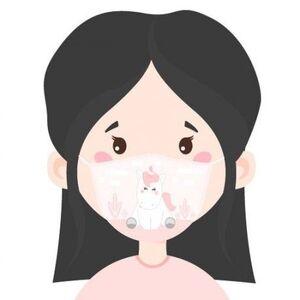 MASCARILLA CON FILTRO INFANTIL UNICORNIO ( TALLA 6 A 12 AÑOS)