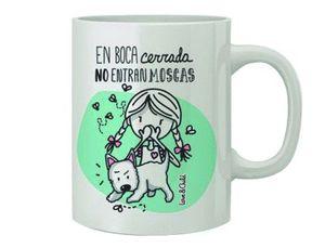 TAZA CERAMICA LOVE&CHILD EN BOCA CERRADA NO ENTRAN MOSCAS CAPACIDAD 300 CL APTA MICROONDAS Y LAVAVAJ