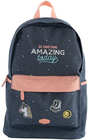 MOCHILA MR WONDERFUL DO SOMETHING AMAZING TODAY