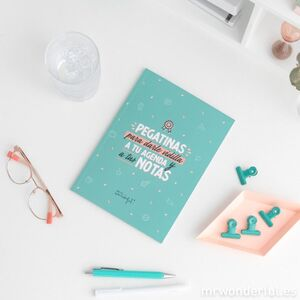 LIBRETA PEGATINAS MR WONDERFUL PARA DARLE VIDILLA...