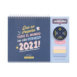CALENDARIO SOBREMESA MR WONDERFUL 2021 QUE SE PREPARE TODO EL MUNDO
