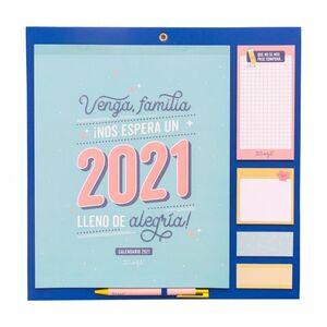 CALENDARIO FAMILIAR MR WONDERFUL !NOS ESPERA UN 2021 LLENO DE ALEGRIA!