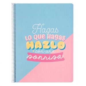 CUADERNO PP A4 5X5 MM MICRO CAROUGE BLUE & PINK