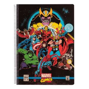 CUADERNO PP A4 5X5 MM MICRO MARVEL COMICS AVENGERS