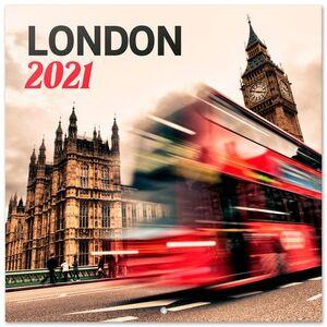 CALENDARIO PARED 30X30 LONDON COLOR 2021