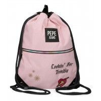 SACO GYM CREMALLERA PEPE JEANS FOREVER ROSA