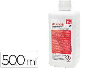 SOLUCION ANTISEPTICA CLORHEXIDINA DESINCLOR 1% BOTE DE 500 ML