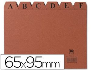 INDICE FICHERO CARTON Nº 1 65X95 MM